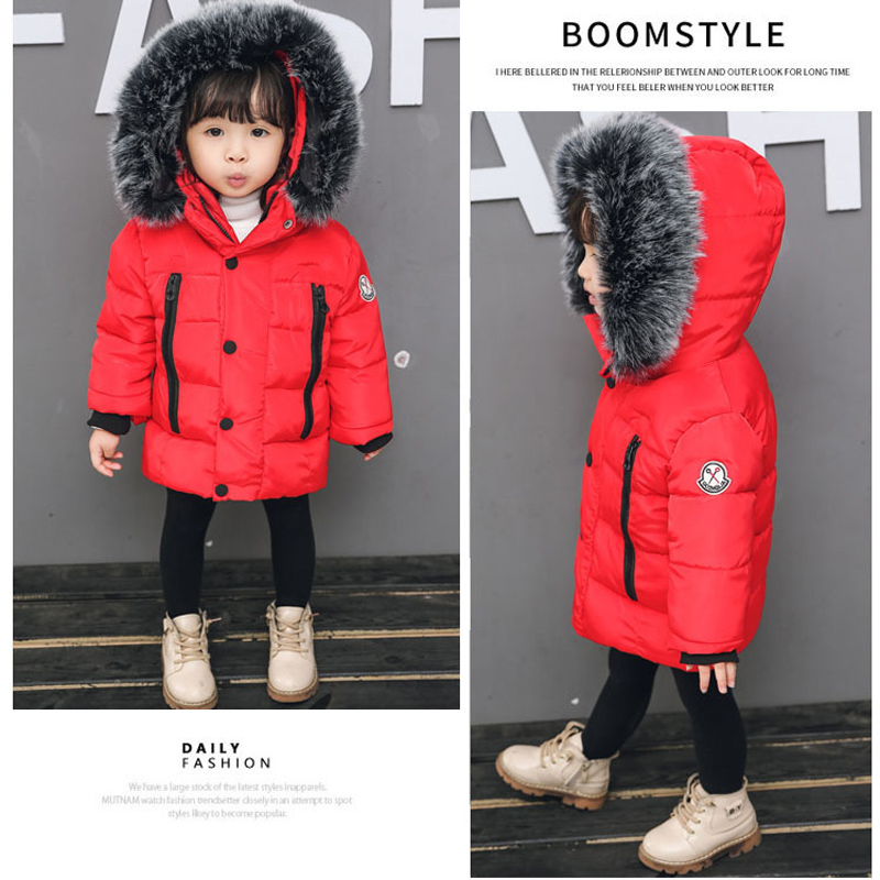 Girls Coat 2018 Winter New Children's Clothing Boys Jacket Nagymaros Collar Down Padded Jacket Baby 2-7Years Boys Down Jacket 2016 new arrival women s luxury jacket short paragraph korean version nagymaros collar female was thin tide coat mz575 page 4