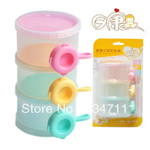 Containers For Food Baby Food Mamadeiras Free Shipping Day Kang Split Three Milk Box Storage Portable Cans Powder Shop Boxing