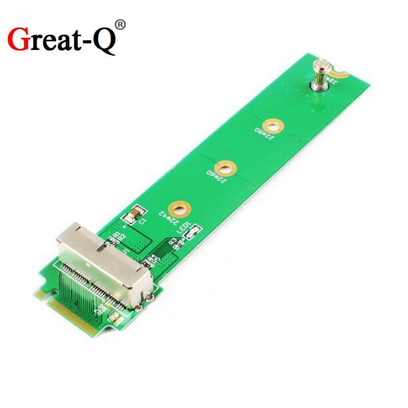 Grand-Q PCI Express 4X M.2 NGFF M-Clé à 2013 2014 2015 Apple Macbook SSD adaptateur pcie riser card pour A1493 A1502 A1465 A1466