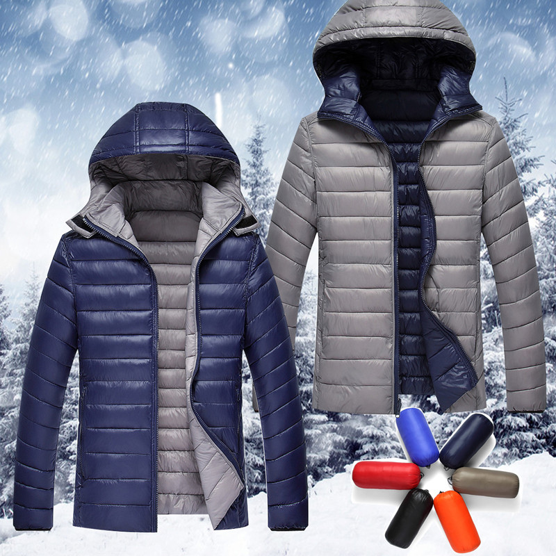 ФОТО Q-IMAGE 2016 high quality men's fashion down jacket, both positive and negative wear down jacket