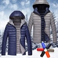 Q-IMAGE 2016 high quality men's fashion down jacket, both positive and negative wear down jacket