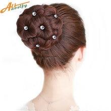 Allaosify синтетический шиньон пучок волос 9 цветов Кристалл