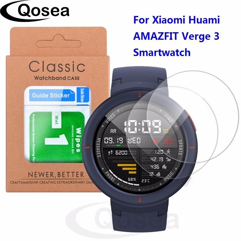 2 pièces Pour Xiaomi Huami AMAZFIT Point 3 Smartwatch De Protection verre trempé 9 H Ultra Effacer Anti-Déflagrant film protecteur d'écran