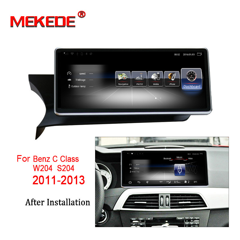 10 25 C Class W204 S204 2011 2012 2013 for Mercedes Benz Android GPS Navigation monitor
