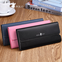 WILLIAMPOLO women wallet Leather card holder Wallet Long purse female Fashion phone clutches ladies wallet for women