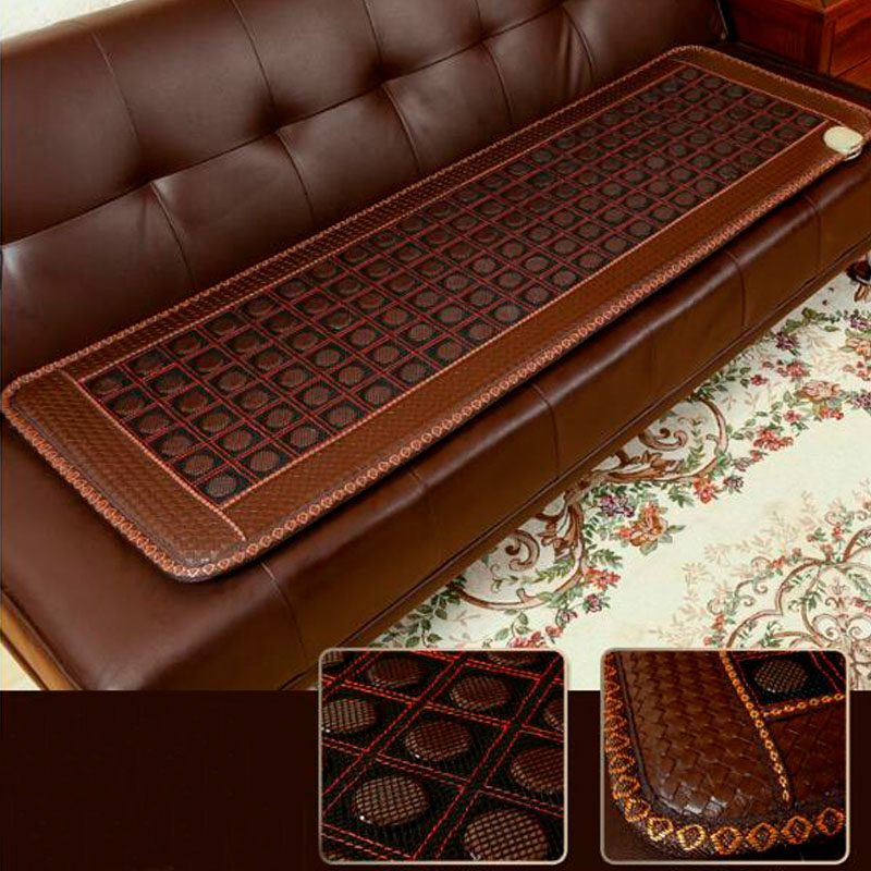 4CM Germanium Stone Tourmaline Mat Electric Heating Mat Jade Stone Massage Mat 50*150CM jade mat electric heating massage mattress with therapy massage function for beauty center use 50 150cm