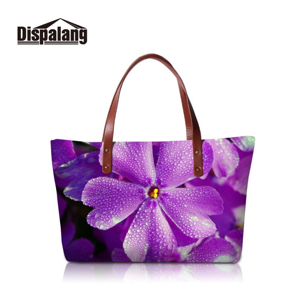 Dispalang Women Bag Flower Printing Bucket Shoulder Bags Big Handbag Large Capacity Ladies Top-handle Bags Girls Beach Bag