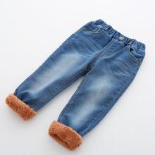 Г., зимние теплые джинсы для маленьких мальчиков новые детские повседневные плотные вельветовые джинсы с эмблема с надписью для мальчиков от 1 до 5 лет