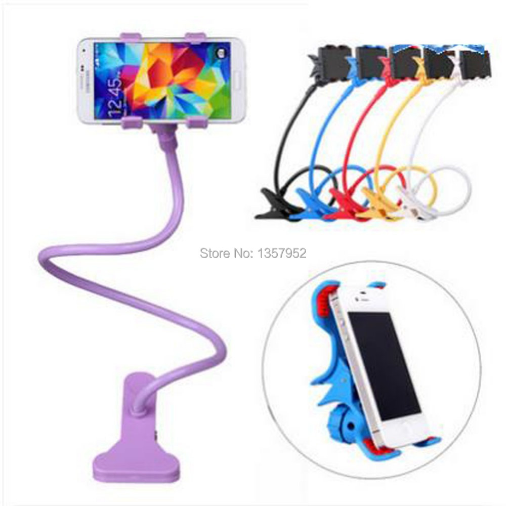 Cell Phone Clip Holder Stand Gooseneck Clip Clamp Mount On