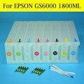 Из 2 предметов GS6000 Чип декодер с 8 шт. большого формата картридж для Epson GS6000 принтер  плоттер