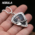925 Sterling Silver Vintage Chameleon Dragon Ax Pendant Necklace Jewelry For Men Wonmen Punk Thai Silver Faith