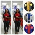 Envío Libre mujer bazin riche Africano dashiki Ropa Bordada ropa Larga y Pantalones Set M22