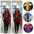 Frete Grátis mulher bazin riche Africano dashiki Vestuário Bordado roupas Longas & Pants Set M22