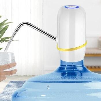 Ładowanie Elektryczne Pompowanie Butelka Wody Uchwyt Na Wodę Czysta Woda Ciśnienie Woda Kran Czarny