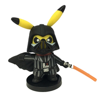 Pikachu Cos Darth Vader PVC Action Figure Toy Brinquedos Birthday Gift For Kids Free Shipping