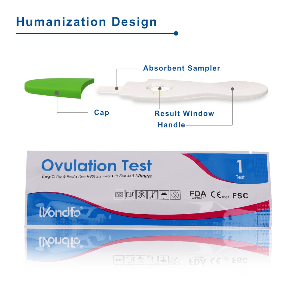 Wondfo 7pcs Ovulation Urine Test Midstream LH Tests kit First Response Ovulation kits, Over 99% Accuracy Earliest Detection Lahore