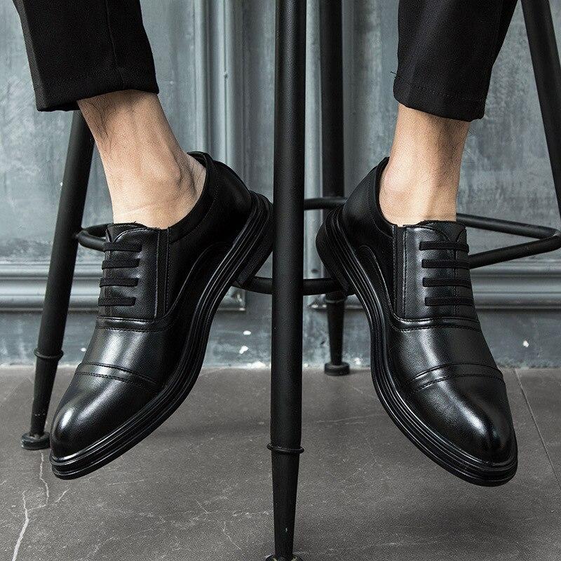 En Formel De Hommes Homme 44 Pointu Black Souple Décontracté Mâle Tailles Chaussures Des Oxford Pour Habillées 38 Appartements Bout D'affaires Cuir Travail wXXvgpqt4