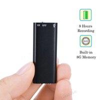 8G супер мини Цифровой Аудио Голос Регистраторы диктофон стерео MP3 музыкальный плеер, 3 в 1 8 Гб памяти для хранения USB флеш-диск