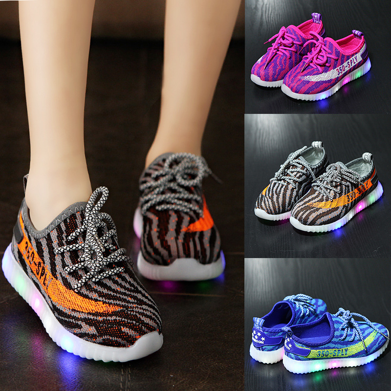 Spring Summer Boys and Girls Sports Shoes with Light S Soft Children Casual Breathable Fashion Light Breathable Shoes ...