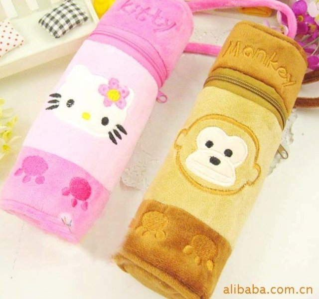 wholesale/free shipping new arrival cute animal  pencil bag beautiful school pencil bag