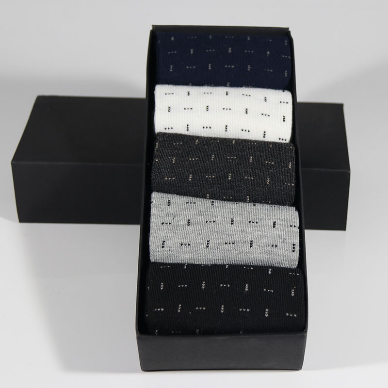 New styles Men Business Gift Box Cotton Sock Wedding Socks (5Pairs) US size (7.5-12)
