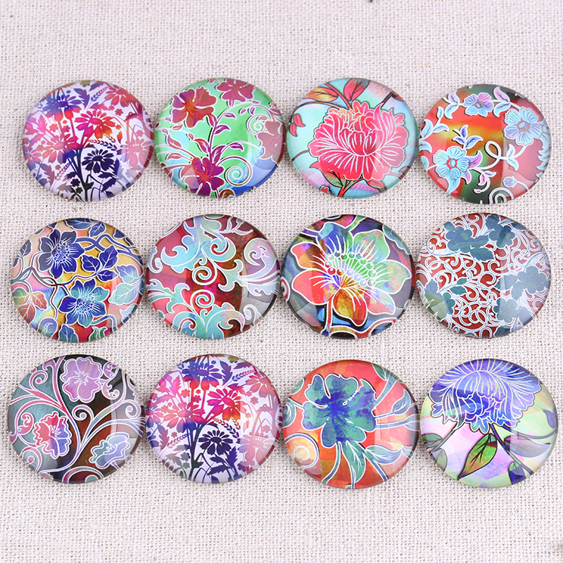 onwear Mix color flower photo round glass cabochon 25mm 20mm 18mm 14mm 12mm diy flatback handmade jewelry components for earringonwear Mix color flower photo round glass cabochon 25mm 20mm 18mm 14mm 12mm diy flatback handmade jewelry components for earring