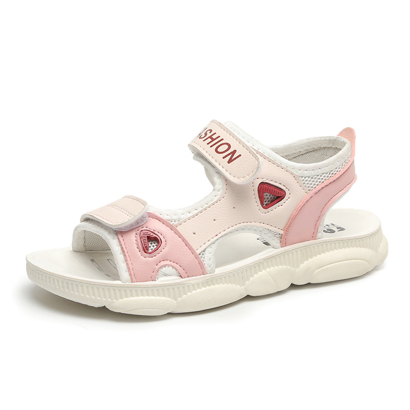 Girls Sandals 2019 Summer New Children's Big Children Soft Bottom Students Casual Boys Bear Beach Children's Shoes Tide