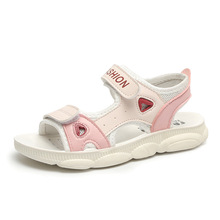 Girls sandals 2019 summer new childrens big children soft bottom students casual boys bear beach shoes tide