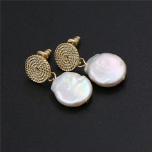 2019 Hot Sale Ladies Pearl Earrings Baroque errings for women trendy drop earrings girl natural freshwater pearl womens earring