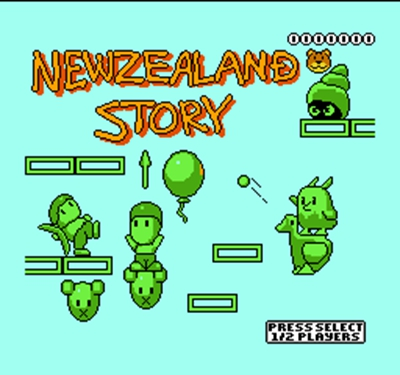 New Zealand Story Region Free 8 Bit Game Card For 72 Pin Video Game Player image