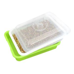 Image 1 - Wheatgrass Cover Seedling germination Planting Mung Bean propagate Clone Boxes Plant Growing Trays Basin Nursery Plant Pot
