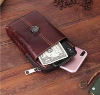 Belt Clip Man Genuine Cow Leather Mobile Phone Case Pouch For ZTE Project CSX Hawkeye Grand