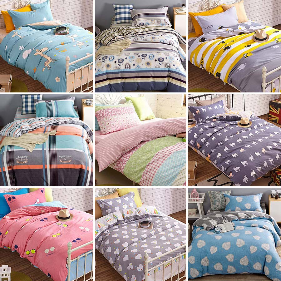 Bed sheets for teenagers - Cute Cartoon Bedding Sets Teens Kids Twin Full 100 Cotton