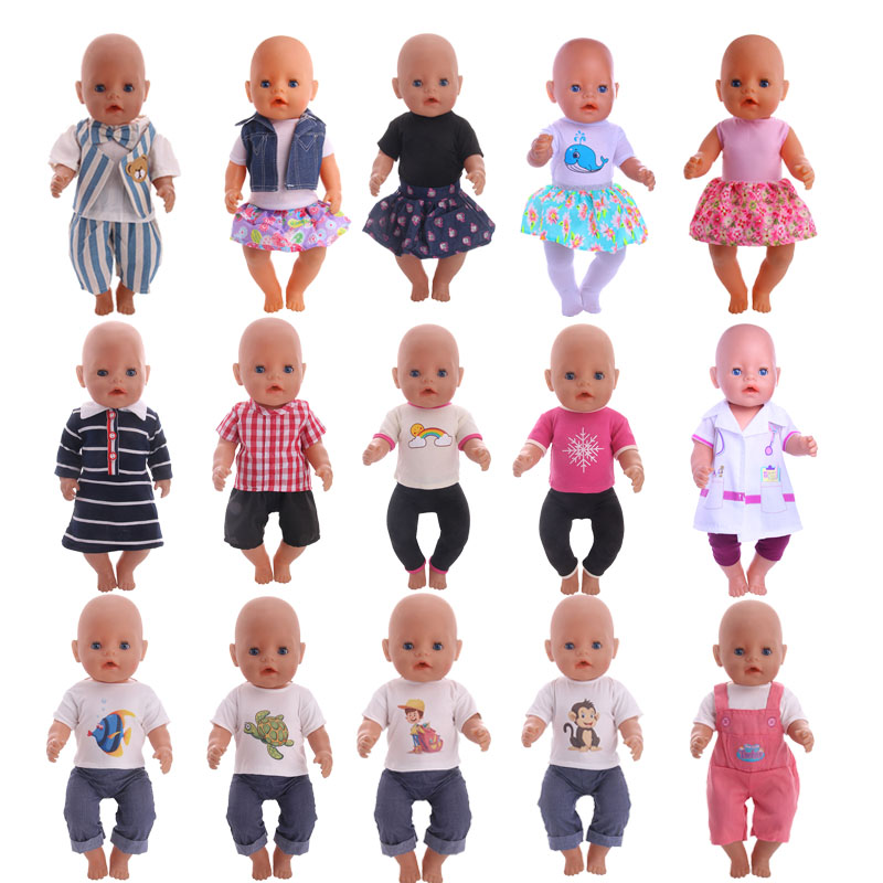 15 styles handmade clothes fit 43cm baby born doll and 18inch American girl doll clothes accessories Christmas gift superman and spider man cosplay costume doll clothes fit 43cm baby born zapf doll accessories handmade child birthday gift t 5