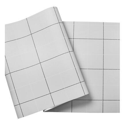 new modern minimalist black white plaid wallpaper nordic style