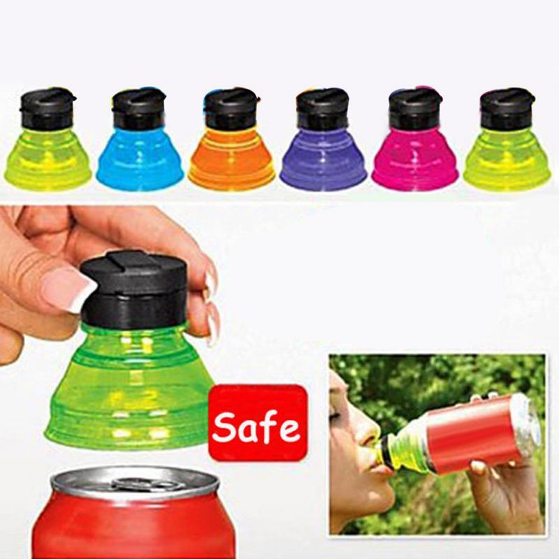 Random Color 6Pcs/Set Safe Plastic Practical Soda Savers Toppers Reusable Bottle Caps Can Convert Resealable Tops