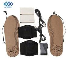 Eléctrico recargable Calefacción Eléctrica Plantilla Zapatos Pad Foot Warmer Electrodomésticos Secador de Zapatos Rápida Invierno Cuidado de Los Pies