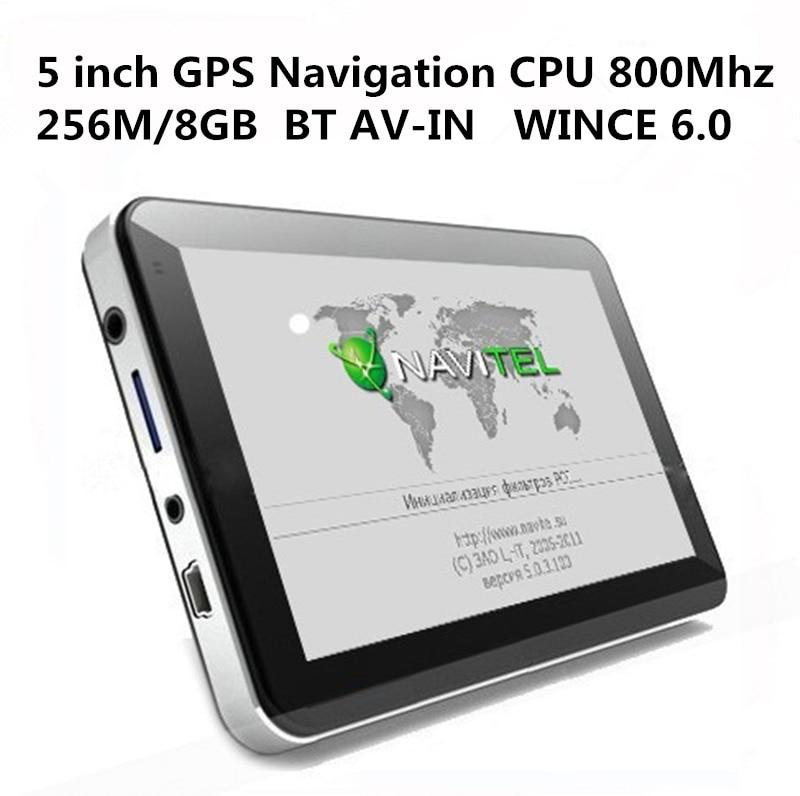 HOT 5 inch Car font b GPS b font Navigation Sat Nav CPU800M WINCE6 0 Bluetooth