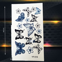 Colorful 3D Butterflies Waterproof Tattoo Stickers Women Temporary Tattoo Paste, Child Body Art ARm Legs Hands Tatoo
