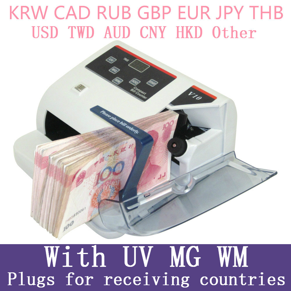 Mini Money Detector with UV MG WM Bill Counter for Most Currency Note Bill Cash Counting