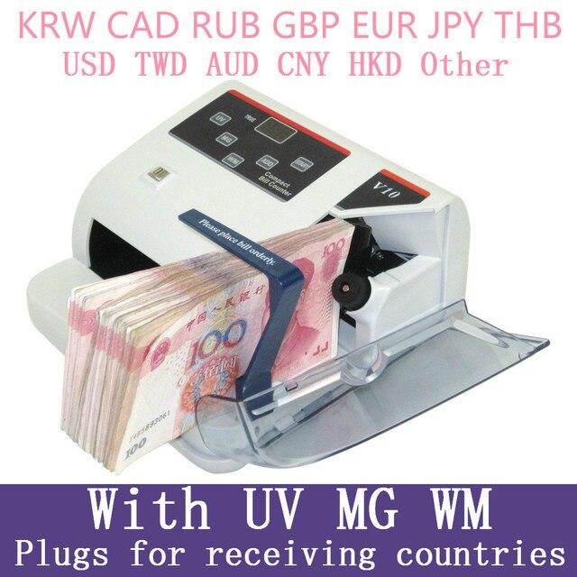 MINI เครื่องตรวจจับ UV MG WM Bill Counter สำหรับสกุลเงินหมายเหตุ Bill Cash เครื่องนับ EU V10 Financial อุปกรณ์