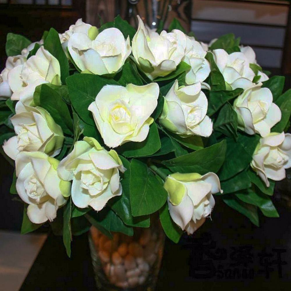 6 pcs bunch artificial flowers silk wedding decoration floral 6 pcs bunch artificial flowers silk wedding decoration floral gardenia party artifical wedding decor flower in artificial dried flowers from home izmirmasajfo