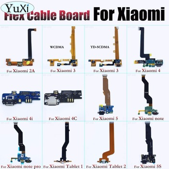 YuXi conector de carga USB puerto Flex Cable para Xiaomi 2 2A 3 Mi3 4 Mi4 4i 4S 5 Mi5 5S Mi5S nota Pro