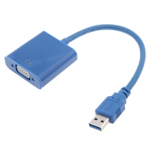 цены USB 3.0 to VGA Multi-display Adapter Converter External Video Graphic Card Blue