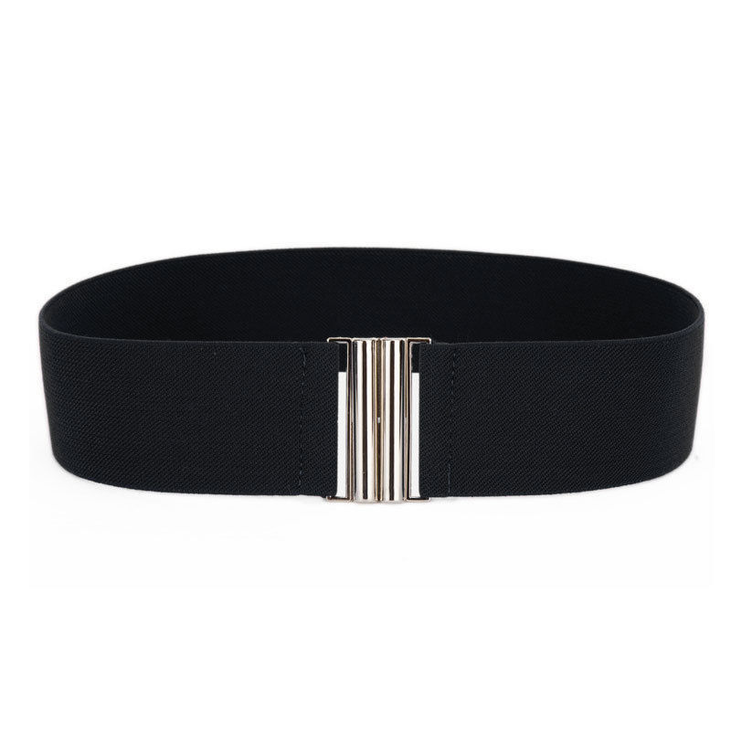 1Pc Fashion Waist Belts Women Silver Buckle Wide Stretch Elastic Belts Waistband Lady Waist Belt Free Shipping Ceinture Cint
