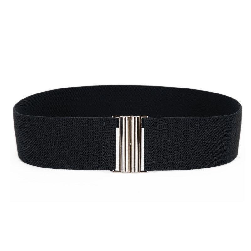 1Pc Fashion Waist   Belts   Women Silver Buckle Wide Stretch Elastic   Belts   Waistband Lady Waist   Belt   Free Shipping Ceinture Cint