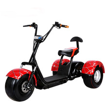 3 wheel electric harley scooter with 1000W hub motor and 60V lithium battery Free TAX