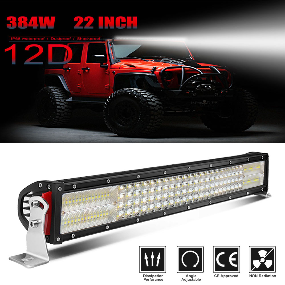 CO LIGHT 22 4 Row 12D LED Light Bar Offroad 384W Spot Flood Combo Led Bar Auto Driving Work Light for Truck 4X4 ATV SUV 12V 24V miami tattoos переводные тату karma 20 см х 15 см 3 листа
