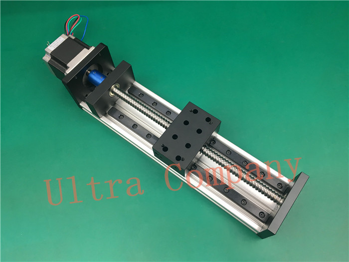 High Precision GX80*50 Ballscrew 1204 1100mm Effective Travel+ Nema 23 Stepper Motor CNC Stage Linear Motion Moulde Linear high precision gx80 50 ballscrew 1204 1300mm effective travel nema 23 stepper motor cnc stage linear motion moulde linear