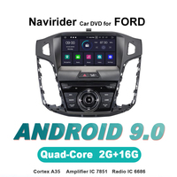 Navirider OS 9.0 Car Android Player For FORD FOCUS 2012 stereo radio gps navigation bluetooth TDA7851 Amplifier sound System
